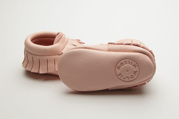 Blossom Moccs - Eco-Friendly Soft Leather Moccasins Baby Shoes by Wolfie and Willow