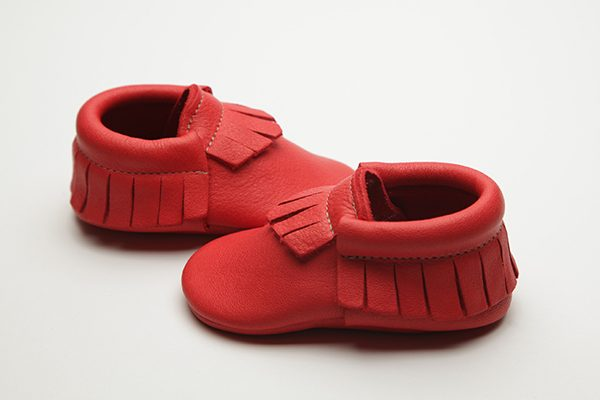 Clancy Moccs - Eco-Friendly Soft Leather Moccasins Baby Shoes by Wolfie and Willow