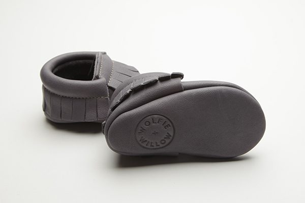Flint Moccs - Eco-Friendly Soft Leather Moccasins Baby Shoes by Wolfie and Willow