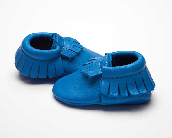 Indigo Moccs - Eco-Friendly Soft Leather Moccasins Baby Shoes by Wolfie and Willow (2)
