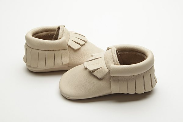 Navajo Moccs - Eco-Friendly Soft Leather Moccasins Baby Shoes by Wolfie and Willow