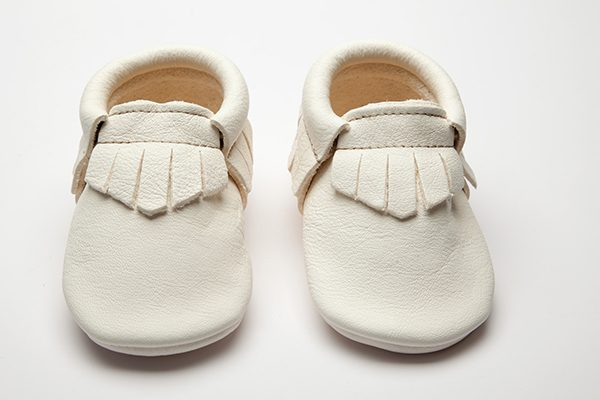 Pearl Moccs - Eco-Friendly Soft Leather Moccasins Baby Shoes by Wolfie and Willow