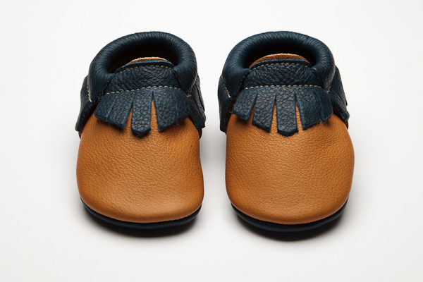 Mohawk Bruno Moccs - Eco-Friendly Soft Leather Moccasins Baby Shoes by Wolfie and Willow