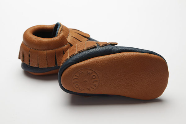 Mohawk Saxon Moccs - Eco-Friendly Soft Leather Moccasins Baby Shoes by Wolfie and Willow