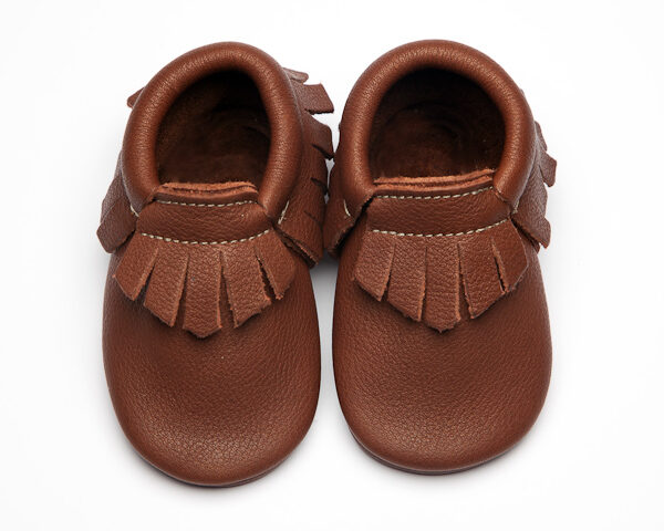 Coco Moccs - Eco-Friendly Soft Leather Moccasins Baby Shoes by Wolfie and Willow
