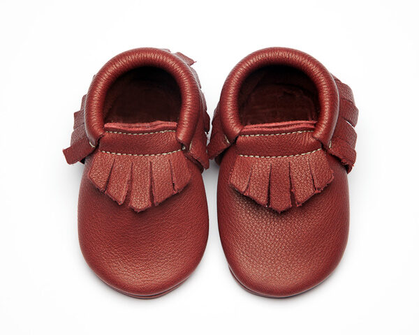 Plum Moccs - Eco-Friendly Soft Leather Moccasins Baby Shoes by Wolfie and Willow