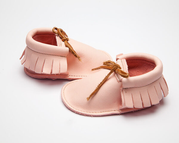 Sahara Blossom Moccs - Eco-Friendly Soft Leather Moccasins Baby Shoes by Wolfie and Willow