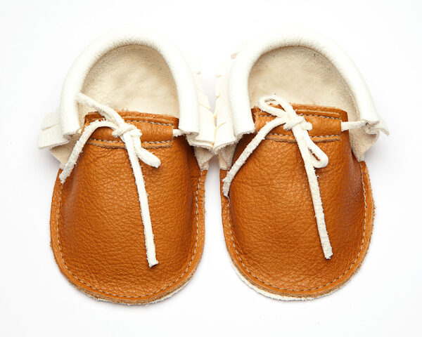 Sahara Bruno Pearl Moccs - Eco-Friendly Soft Leather Moccasins Baby Shoes by Wolfie and Willow (4)