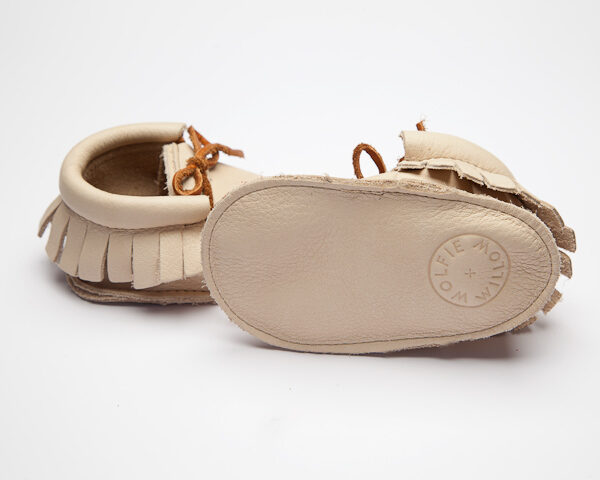 Sahara Navajo Moccs - Eco-Friendly Soft Leather Moccasins Baby Shoes by Wolfie and Willow (2)
