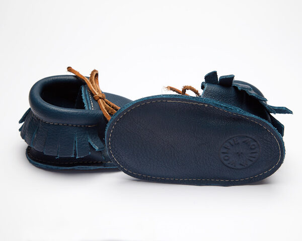 Sahara Saxon Moccs - Eco-Friendly Soft Leather Moccasins Baby Shoes by Wolfie and Willow (3)