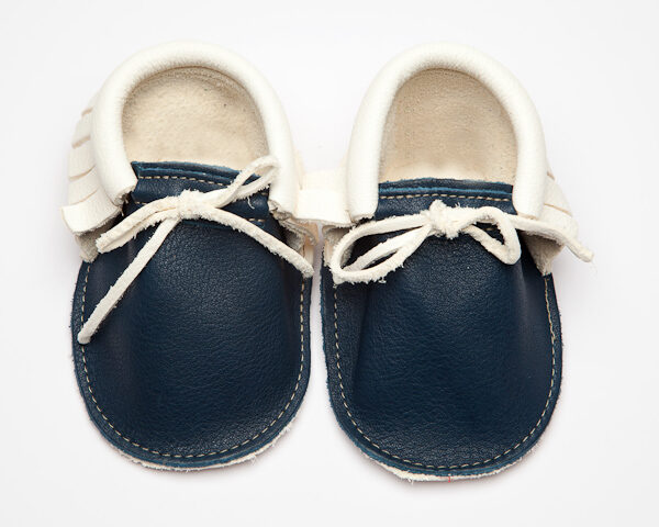 Sahara Saxon Pearl Moccs - Eco-Friendly Soft Leather Moccasins Baby Shoes by Wolfie and Willow (4)