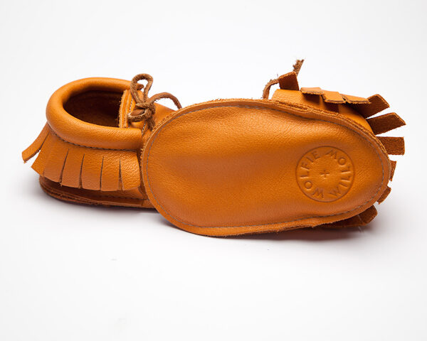Sahara Sienna Moccs - Eco-Friendly Soft Leather Moccasins Baby Shoes by Wolfie and Willow (3)