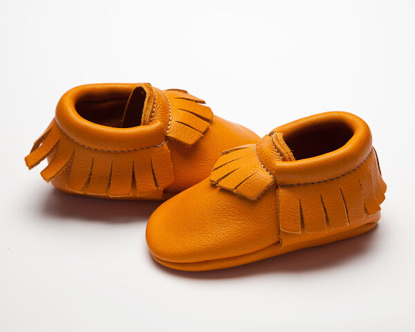 Sienna Moccs - Eco-Friendly Soft Leather Moccasins Baby Shoes by Wolfie and Willow (2)
