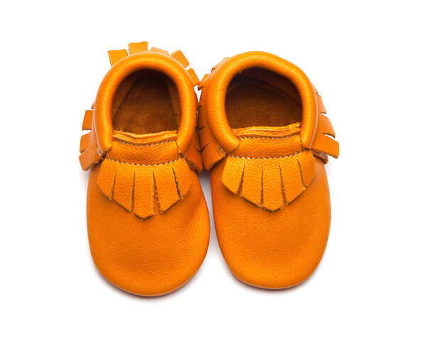 Sienna Moccs - Eco-Friendly Soft Leather Moccasins Baby Shoes by Wolfie and Willow