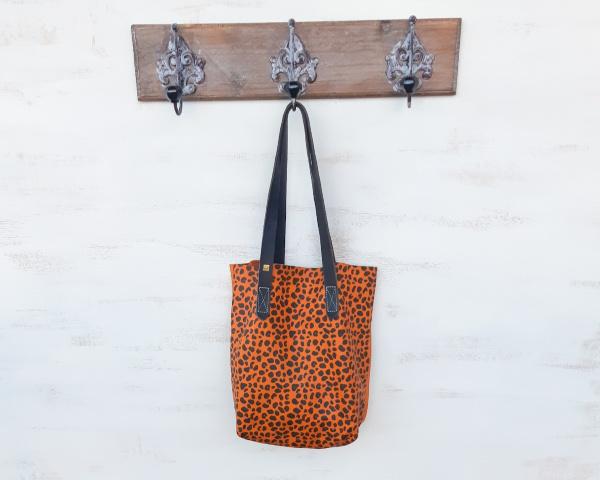mini tote leopard